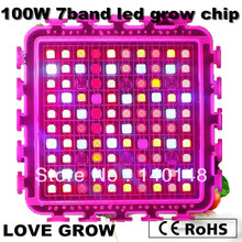 Revolution!! DIY grow kit 100w 7 band led grow light chip indoor growth and flowering 2 years warranty  free shipping