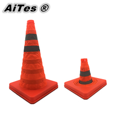 PPS Telescopic road reflective barricades telescopic lift emergency road cone traffic cone warning Safety Cones Free shipping(China)