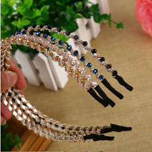 1PC Women Girl'S Crystal Rhinestone Jewelry Headband Head Piece Hairband Hair Band Accessories