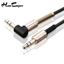 3.5mm Audio Cable 90 Degree Right Angle Flat Jack 3.5 mm Aux Cable For iPhone Car Headphone Speaker Aux Cord Wire MP3/4