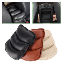 Universal Car Armrests Seat Cover Auto Vehicle Center Console Arm Rest Seat Box Pad Protective Case Soft PU Mats Cushion 3 Color(China)
