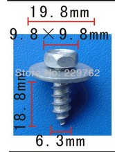 Free Shipping 100pcs Hexagon head self-drilling screw for toyota metal clip auto metal fasteners car metal fastners