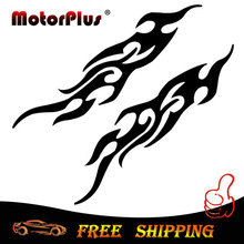 Pair 3D Car Styling Auto Frame Fire Mirror Sticker Motorcycle Decal Emblem For BMW Audi Toyota Volkswagen Ford Benz Opel VW Kia