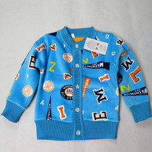 New Spring Autumn Winter Kid Cartoon Plus Velvet Clothes For Boys Girls Baby Fall Cardigan Sweater Knit Children Clothing 1-3T