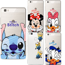 Mickey Minnie Case Ultra Thin Soft Silicon Transparent TPU Cover Coque For Huawei P8 Lite 2017 P9 P9 lite P10 Cases Fundas Capa