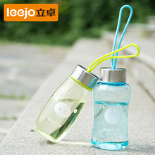 Cute cartoon Transparent Fashion lovely handle plastic water bottles small mini travel Outdoor Gym tour drinking bottle kettle(China)