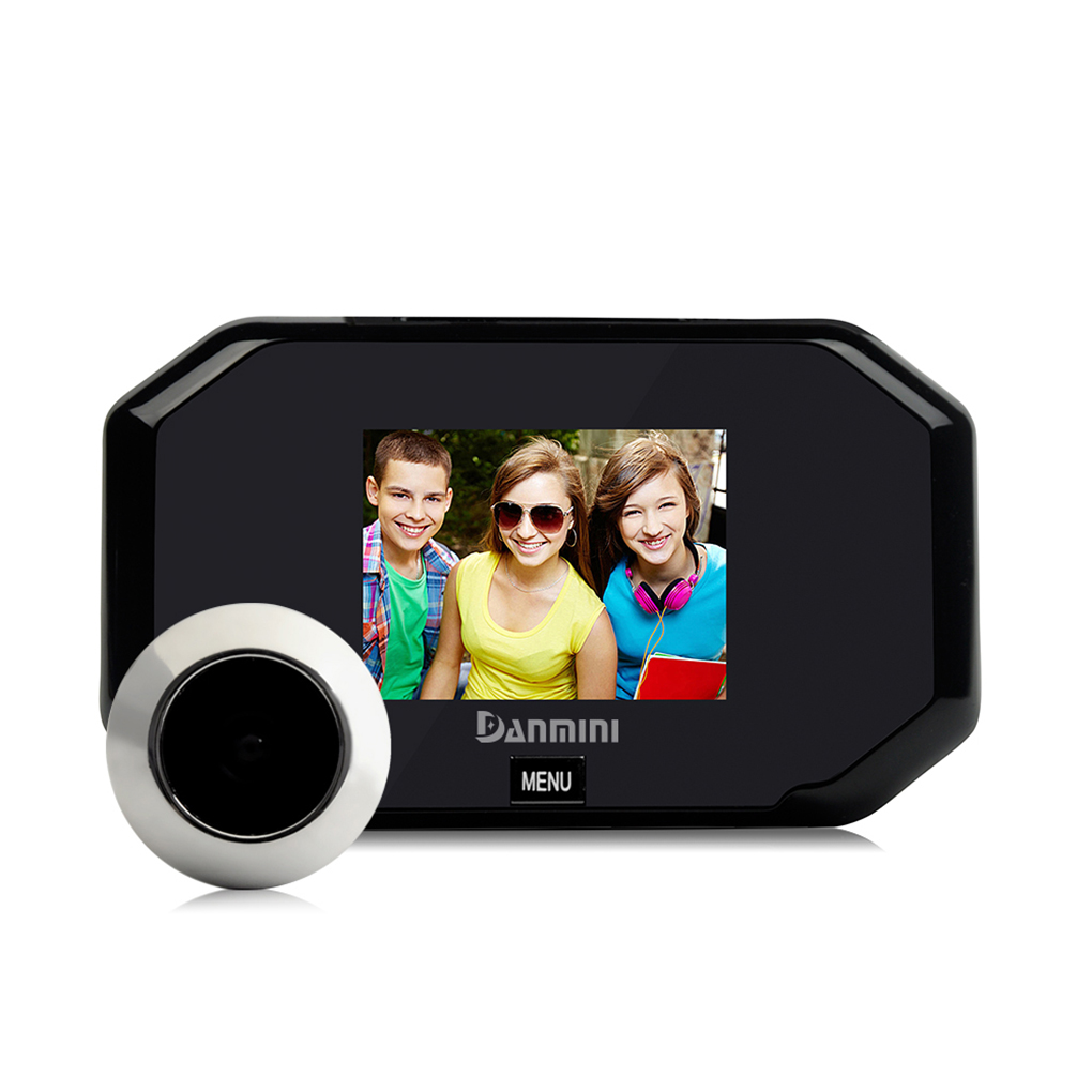 Daminin 1.0MP HD 3.0 inch Screen Door Peephole Viewer IR Camera 145 Degree Lens Doorbell 3*1.5V/AA Energy Saving Battery<br>