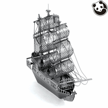 Pandamodel@SHIPS 3D Metal model Etching Puzzles Chinese Metal Earth BLACK PEARL creative gifts Stainless steel ornaments