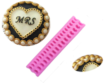 M307 Good Quality Pearl Bead Chain Silicone Fondant Mould Cake Chocolate Decorating Baking Mold