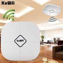 KuWfi 48V POE Support 600Mbps Wireless Access Point  2.4G/5G Wifi Bridge Repeater AC Controller Management indoor AP Wifi Router