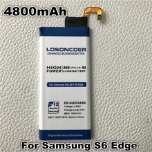 LOSONCOER EB-BG925ABE 4800mAh For Samsung GALAXY S6 Edge Battery G9250 G925F G925FQ G925S S6 Edge Battery