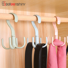 Hot Sales High Quality Rotating Plastic Tie Rack Hook Tie Holder Bag Belt Organizer Closet Clothing Accessory Hanging(China)