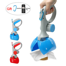 Portable Pet Pooper Scooper Dog Waste Scoop Sanitary Pickup Remover for Outdoor Cleaning Puppy Cat Kitten Free Poop Bags Gift