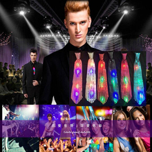 1PC Flashing Light Up Bow Tie Necktie LED Mens Party Lights Sequins Bowtie Wedding