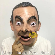 Hot!!Halloween Party Cosplay Costume Realistic Latex Celebrity Mask Donald Trump/Obama/Mr.Bean/Putin Head Full Man - Shenzhen Kteam China Products Store store