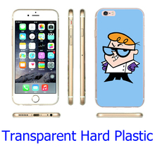 Dexter Cartoon Network Hard Transparent Phone Case for iPhone 7 6 6S Plus 4 4S 5C 5 SE 5S Cover