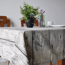 Fudiya Wooden Stripe Printed Table Covers Pastoral Tablecloth Vintage Home Decoration Party-Table-Linen Obrusy na HH2206(China)
