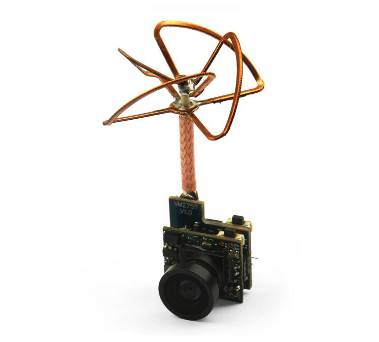 5.8GHz 25mW 48 channels Transmitter with 520TVL FPV Mini camera NTSC/PAL Switchable for FPV kvadrokopter RC Drone<br><br>Aliexpress