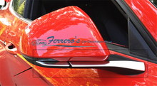 Free shipping car stickers styling stainless steel for 2015 2016 new ford mustang car rearview mirror decoration cover