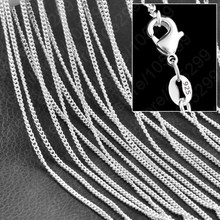 JEXXI 2016 Promotion Flat Curb Chains Necklace 925 Stamped Women Jewelry 925 Pure Sterling Silver Choker Necklace 10PCS