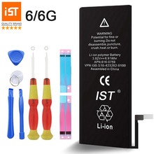 100% IST Original Mobile Phone Battery For iPhone 6 Real Capacity 1810mAh With Repair Tools Kit And Battery Sticker