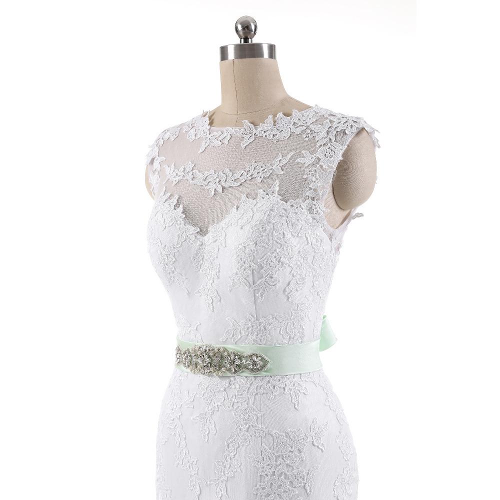 Lover Kiss Vestido De Noiva 2017 Robe De Mariee Elegant Lace Body Sleeveless Wedding Dress Sexy Mermaid Wedding Dress 6