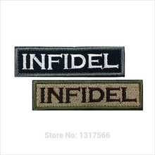 95*26mm Punisher INFIDEL Embroidered Patches Badge Military Tactical Clothing Backpack Baseball Caps Badges Armband(China)