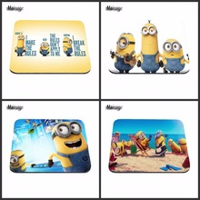 Wholesale  Anti-Slip PC Cute Cartoon Anime Minions Silicon Mouse Pad Mat Mice Pad for Optical mat 18*22cm /25*29cm Or 25*20cm
