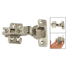 IMC Hot Silver Tone BuffeRing Half Overlay Hinge For CabInet Door(China)