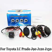 For Toyota Land Cruiser Prado (Spare Wheel On Door) / RCA Wire Or Wireless HD Wide Lens Angle CCD Night Vision Rear View Camera
