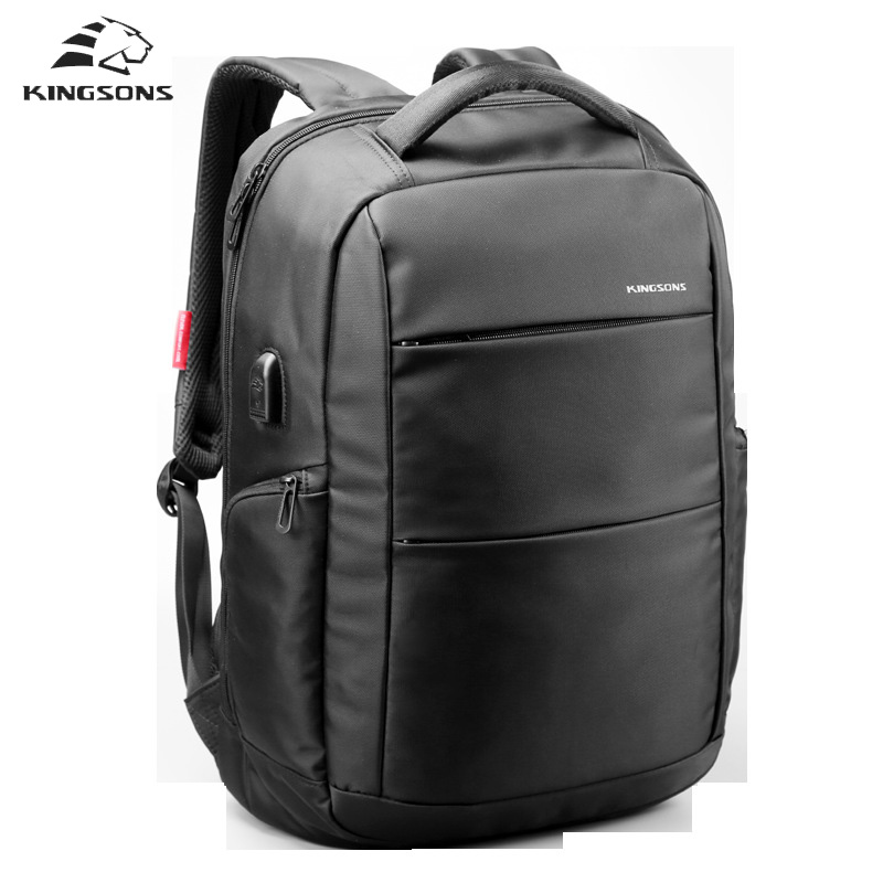 Kingsons External Charging USB Multifunction School Backpack Anti-theft Boys and Girls backpack Women Travel Bag ladies famous<br>