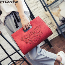 Elvasek women handbags fashion leather bag women messenger bags female retro shoulder handbag ladies clutch large capacity A174