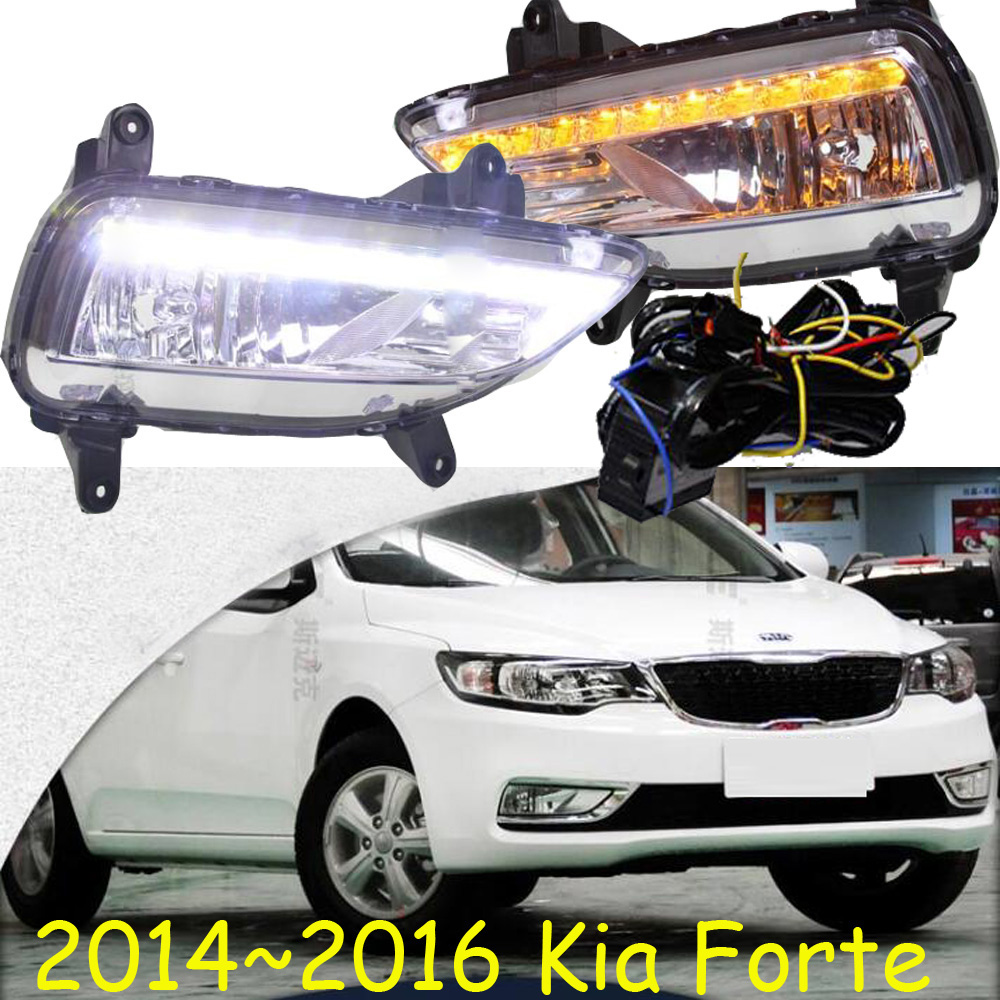 Car-styling,KlA Forte daytime light,2009~2012/2014~2017,chrome,LED,Free ship!2pcs,KlA Forte fog light,car-covers,Forte,cerato<br><br>Aliexpress