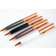 Unique Ballpoint Pen Classic Design Luxury Pen Rose Gold Clip Office School Writing Stationery Supplies Gifts(China)