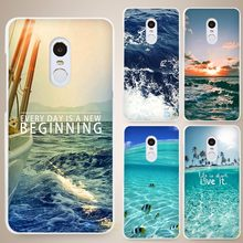 sea ocean Hard White Cell Phone Case Cover for Xiaomi Mi Redmi Note 4 Pro 4A 4C 4X 5X 5 6(China)