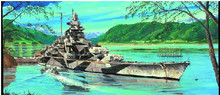 Trumpeter 05712 1/700 German Tirpitz 1944 Battleship plastic model kit