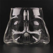 Creative 3D Transparent Star Wars Darth Vader Glass Cup Novelty Cups Beer Wine Whisky Glass Glasses Bar Decoration Tools(China)