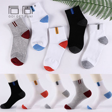 5 Pair/Lot Cotton Men Socks Exercise Brand Spring Fall Autumn Comfortable Black Grey Casual Dress Male Socks Medias Calcetines