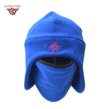 2016 New Fashion Knit Hats For Women Men Winter Snow Mask Beanie Caps Custom Embroidery Stars Skullies Beanies 4 Colors HE004(China)