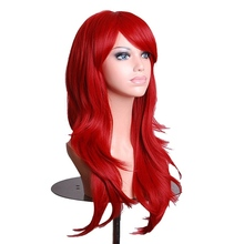 Shumeier 16Colors Long Body Wave Black Blond Synthetic Hair Cosplay Wigs For Women