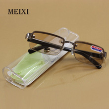 Rimless classic style glass lenses Reading Glasses Plain mirror Men women Unisex Eyewear 0 1.0 1.5 2.0 2.5 3.0 3.5 4.0