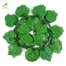 6pcs 230cm Artificial Plants Green Ivy Leaves Artificial Grape Vine Fake Foliage Leaves Hanging Garland Home Wedding Decorations(China)