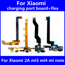USB Flex For Xiaomi 2A Mi3 4 m4c M5 note Good Working USB Charging Port Motor Microphone Flex Cable For Xiaomi Repair Spare Part