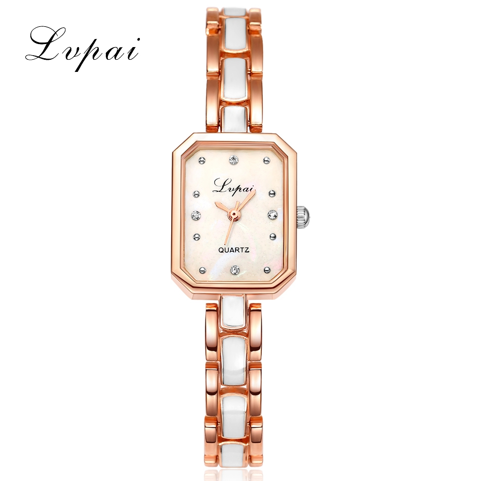 Lvpai Brand Watches Women 2016 Rose Gold Square Bracelet Wristwatch Women Classic Fashion Female Ladies Dress Quartz Watch<br><br>Aliexpress
