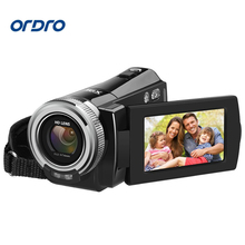 "Original Ordro HDV-108 Digital Video Camera 2.7"" LCD Touch Screen Full HD 1080P Camcorder 16X 20MP Anti-shake Camcorder DV"