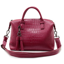 ZHIERNA 2017 New Genuine leather women's bag Crocodile design Ladies handbag Female cow leather shoulder messenger bags Tote Sac