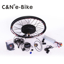 50km/h hub motor 48v 1500w electric bike conversion kit with TFT display