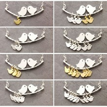 hot selling 1-8 Kinds love birds necklace Simple Fashion tree branches and bird pendant necklace mothers jewelry