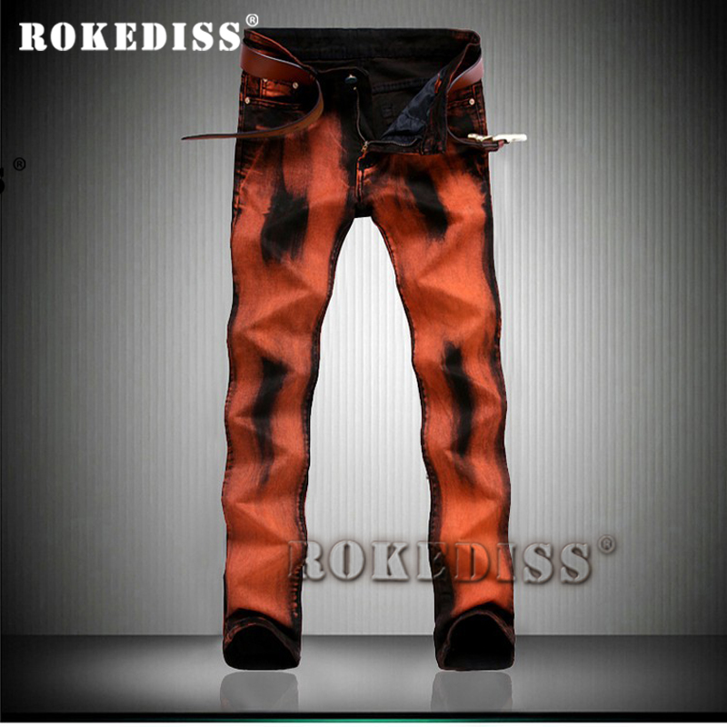 hip hop jeans Spring and Autumn 2017 New fashion printing paint Painting Men trousers Elasticity Graffiti Flower pants C164Одежда и ак�е��уары<br><br><br>Aliexpress