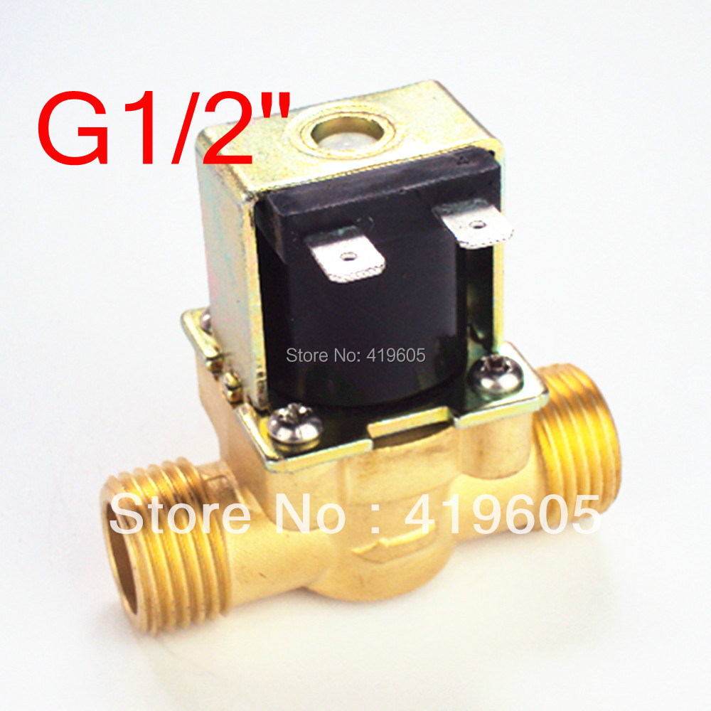 Free Shipping 12VDC eletric Solenoid Valve 1/2 normally closed ,Copper body water valve ,have filter<br><br>Aliexpress